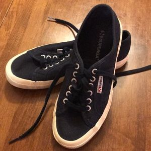 Navy Supergas size 39.5, women's 8.5